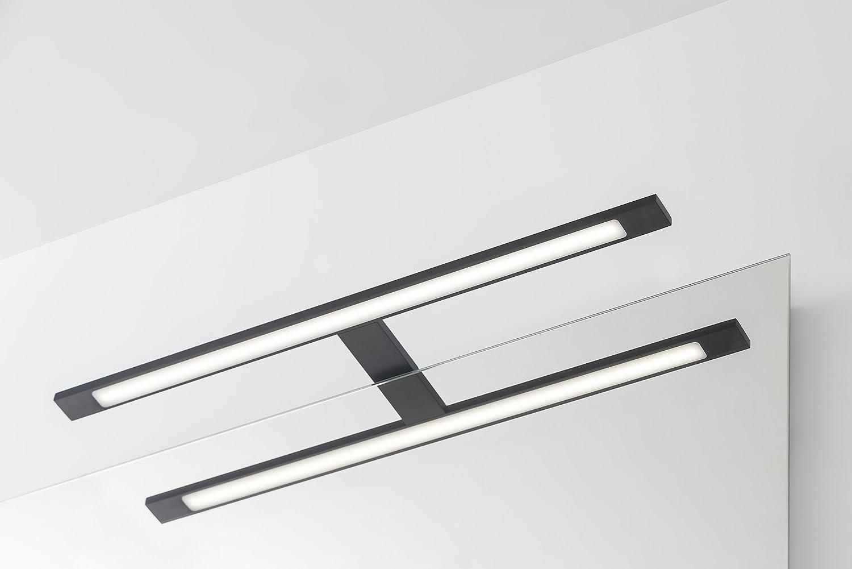 Tiger LED Badezimmerleuchte Ancis Aluminium Metall 4000K 40 cm IP 44 Lampe zur Montage auf Spiegel oder Spiegelschrank Neutralwei/ß
