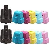 Pictech® Compatible Ink Cartridges Replacement for HP 363 for HP Photosmart 3110, 3210, 3210v 3210xi 3213 3310 3310xi 3313 8230 8238 8250 C5180 C6180 C6270 C6280 C6285 C7180 C7280 C8180 D6160 D7160 D7260 D7360 D7460 Printers (2 Sets (12 Pack)