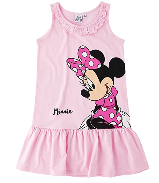 03c698ec6d42af Disney Minnie Kleid, rosa, Glitzerdruck, Gr. 104-140: Amazon.de ...