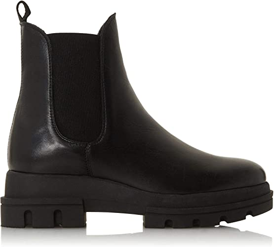 UK 7 Black Flat Heel Chelsea Boots