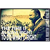 JSC256 Martin Luther King Jr Poster | Inspirational Poster | Classroom Poster | 18-Inches By 12-Inches | Premium 100lb Gloss Poster Paper