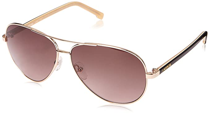 bb609b1c2cd5 Lacoste Women s L155S Aviator Sunglasses
