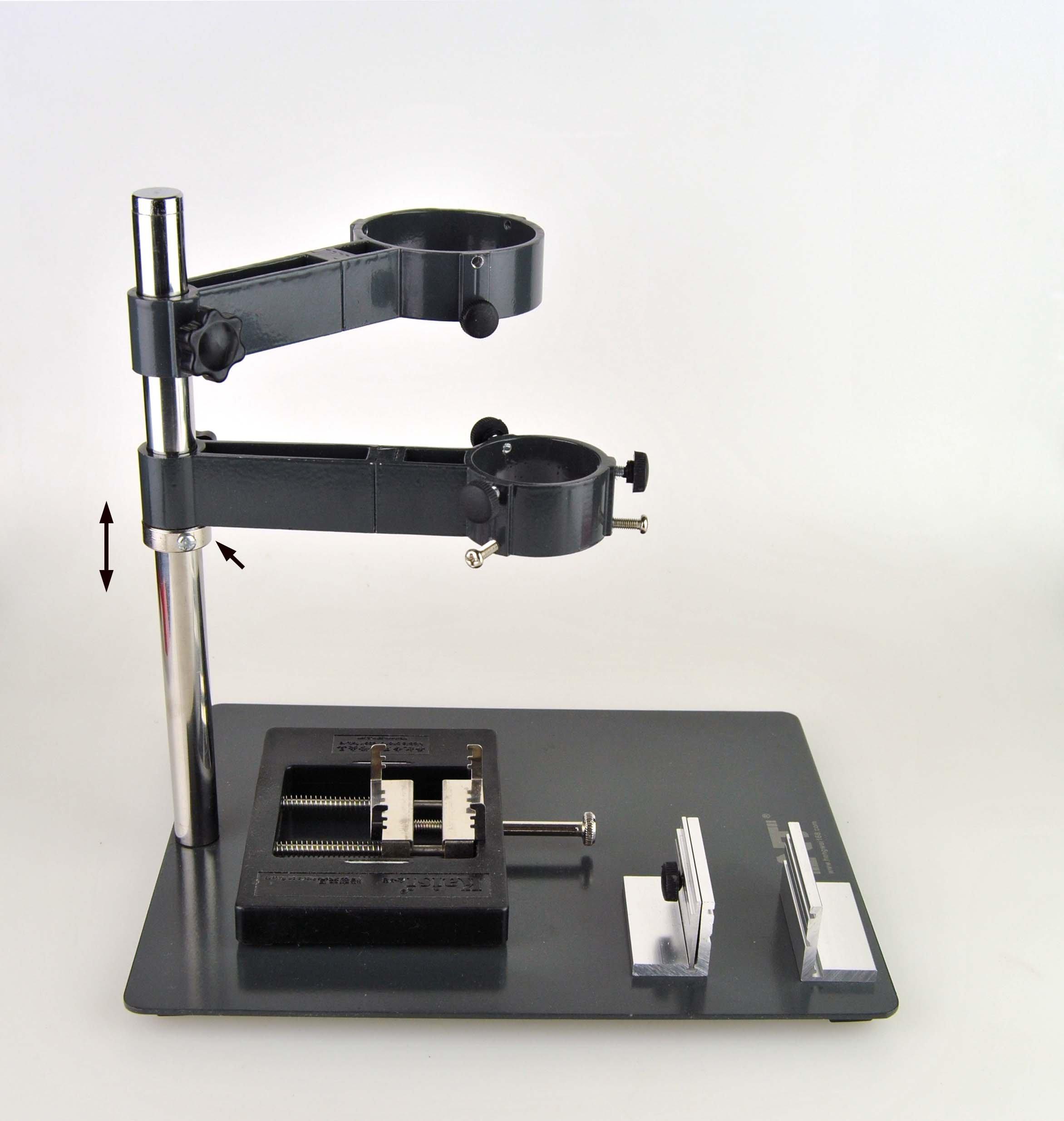 Weber Displays Hot Air Hand-piece Gun Holder with Two Fixtures for SMD Rework Station Soldering Desoldeing De-soldering
