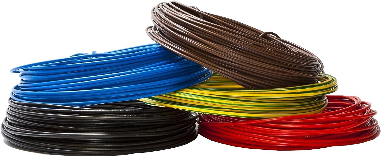 Farbe: schwarz 10m//15m//20m//25m//30m//35m//40m//45m//50m//55m//60m bis 100 m frei w/ählbar Aderleitung Einzelader flexibel PVC Leitung H07V-K 1,5 mm/²