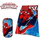 mv16576 Saco de dormir manta Invierno Spiderman para niños 140 x 70 cm Marvel. Media Wave Store®