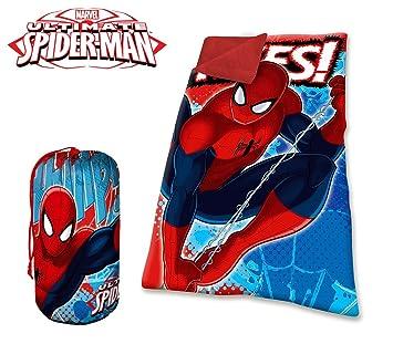 MV16576Saco de dormir manta Inviernal Spiderman para niños.