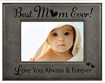 Amazoncom Gift For Mom Engraved Leatherette Picture Frame Best