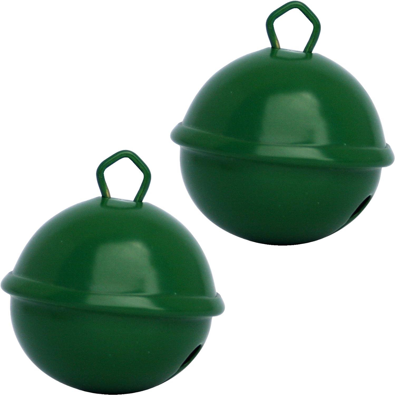 Cascabeles Verde Oscuro Gigantes (35mm x2 Campanillas de Bronce Musicales Sonoros) - 16 Colores MUSIKID (Bebe Niños) Para Manualidades Navidad Boda ...
