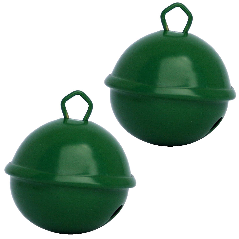 Cascabel gigante verde oscuro (X 2 campanas de 35 mm) latón macizo: Beau sonido + NE herrumbre pas - musikid cascabeles gigantes Gros medios pequeños + de ...