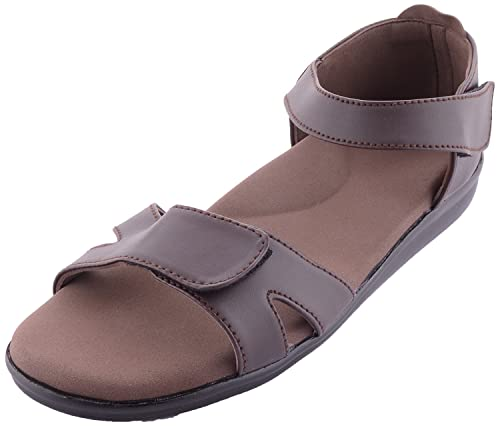 251fc4cd1db Dia One Brown Orthopedic Sandal PU Sole MCP Insole Diabetic Footwear for  Women (Dia 13)  Buy Online at Low Prices in India - Amazon.in