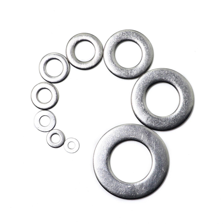 Stainless Steel M2 M2.5 M3 M4 M5 M6 M8 M10 M12 Washer Assortment Set 580PCS Flat Washer Fasteners Assortment Set