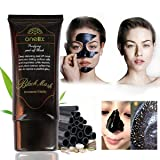 ONE1X Beauty Activated Natural Charcoal Black Mask Blackhead Peel Off Remover Cream Deep Skin Clean Purifying Peel Acne Mud Nose and Face Mask 50ML Bottle Blackhead Remover Mask