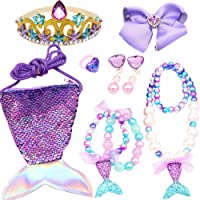 Princess Mermaid Crown Tiara Kids Jewelry Set for Girls Mermaid Birthday Gift Mermaid Party Supplies Princess Dress Up…