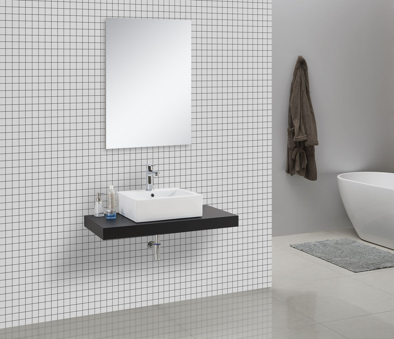 in legno Mensola console per lavabo Cadena
