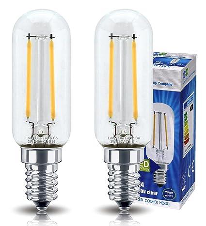 2 bombillas LED de 3 W para campana de cocina, E14, rosca Edison ...