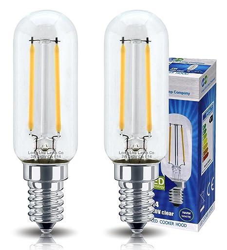2 bombillas LED de 3 W para campana de cocina, E14, rosca Edison pequeña