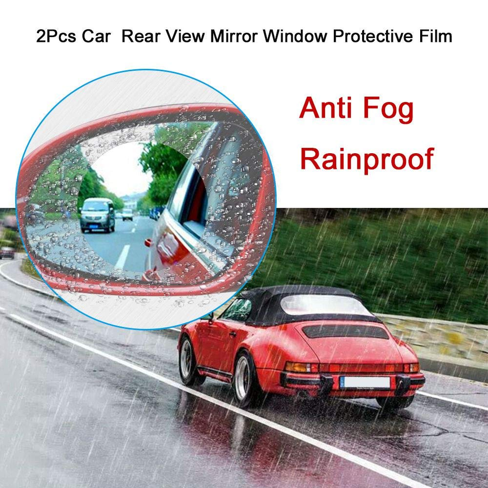 TOOGOO 2pcs Motorcycle Car Side Rear View Mirror Protective Film Anti Fog Rainproof Rear View Mirror Window Clear Waterproof Membrane by TOOGOO (Image #8)
