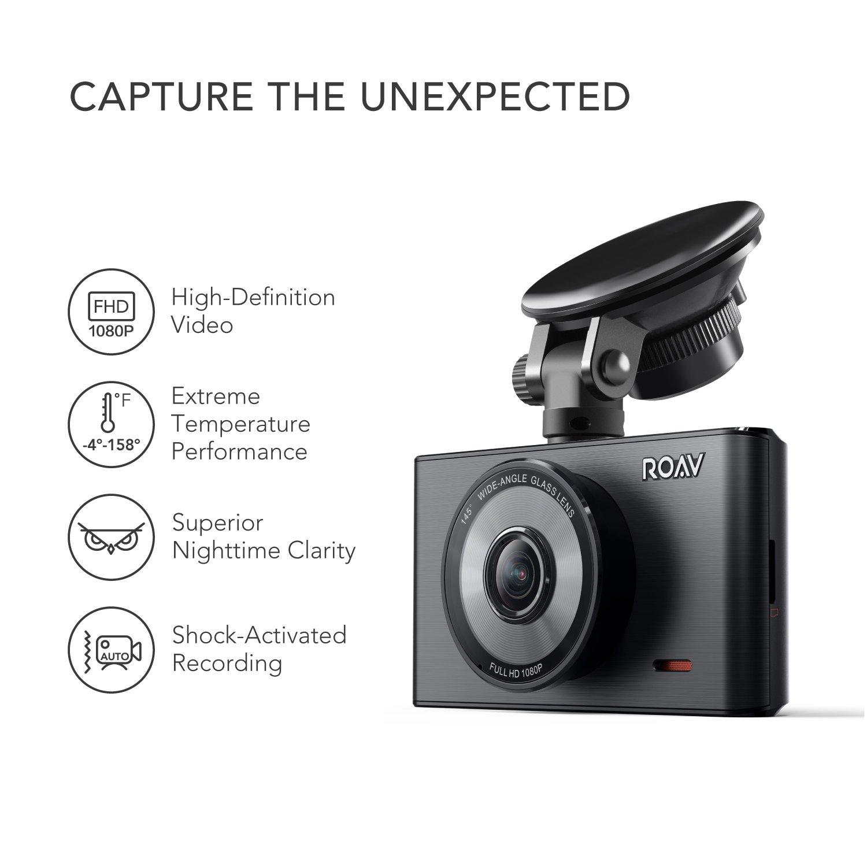 acc/él/érom/ètre Cam/éra Embarqu/ée Ecran LCD 3 1080p avec capteur Sony Exmor sans WiFi WDR et Chargeur Allume Cigare 2 Ports USB Inclus Mode Nuit Cam/éra de Voiture Anker Roav DashCam C2