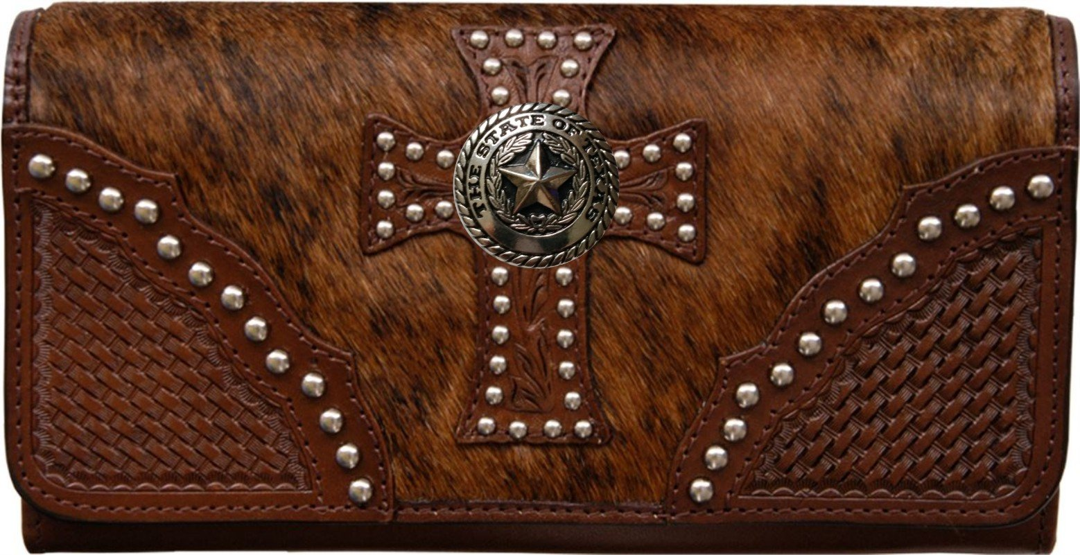 Custom Silver Texas Seal Natural Hair Christian Clutch Wallet with removable checkbook