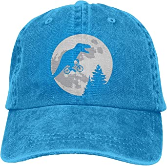 WH-CLA Dad Cap Dinosaurs Ride Bicycle Moon Personalisierte
