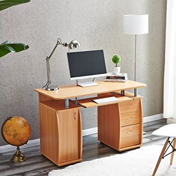 deluxe wooden home office. Deluxe Wooden Home Office. Exellent Office RayGar Beech Deluxe Design  Computer Desk With Cabinet And Office