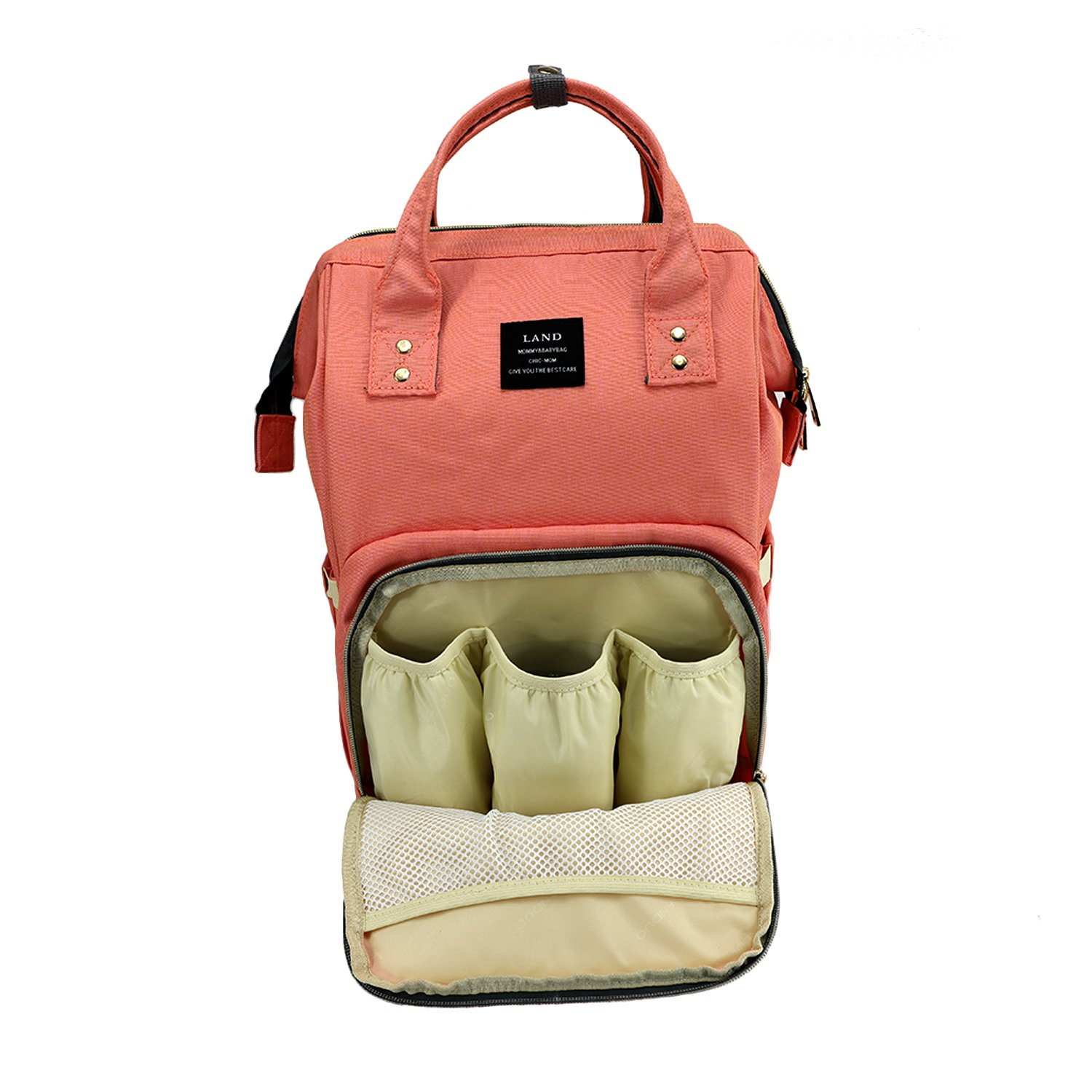 Land Baby Diaper Bag Large Capacity Mommy Backpack Baby Nappy Tote Bags  Multi-Function Travelling Backpack for Mom Travellers Nurses Students  Everyouth ... 72555bb3d8c34