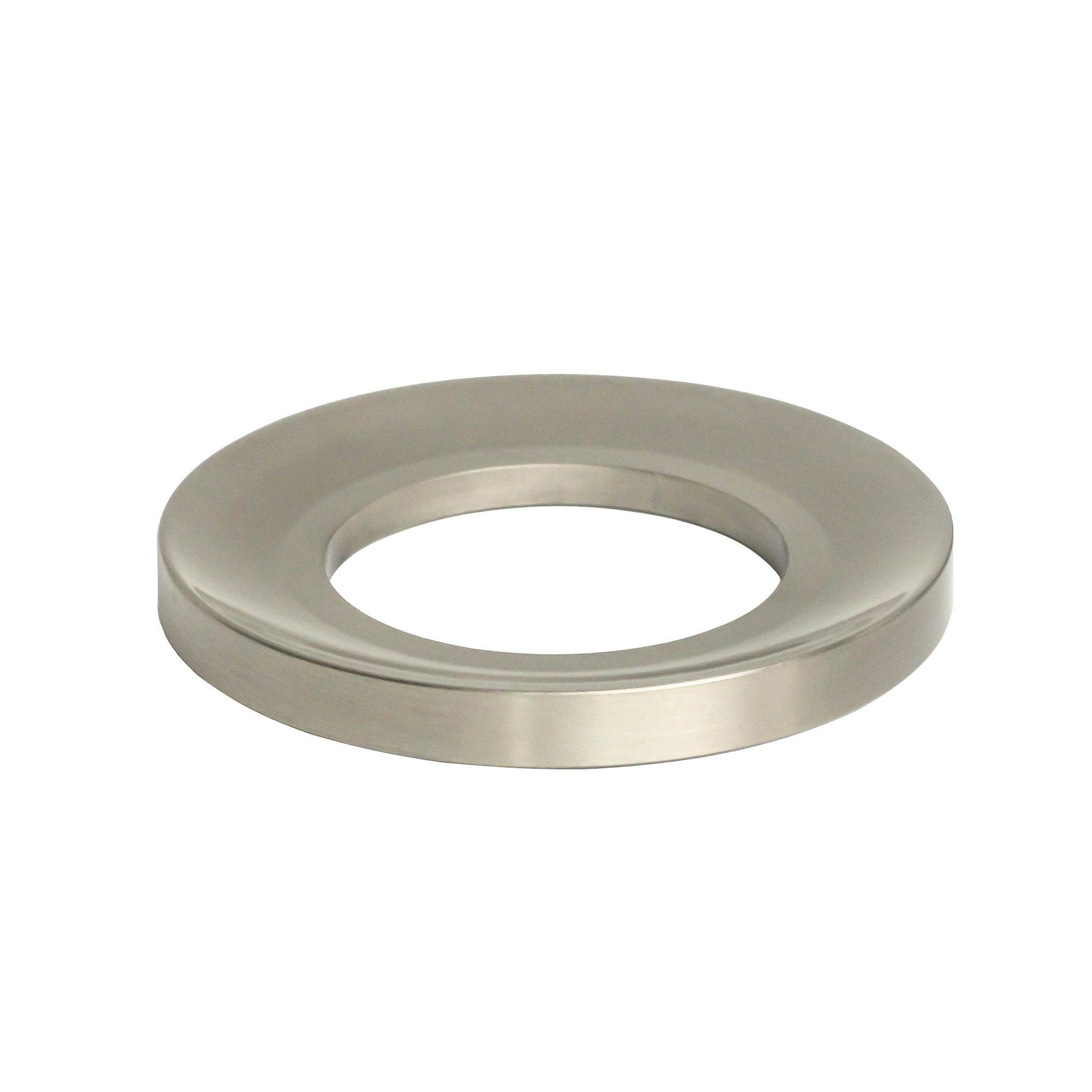 MYHB MLAN1701BR Lead Free Solid Brass Bathroom Vessel Sink Mounting Ring, Brushed Nickel