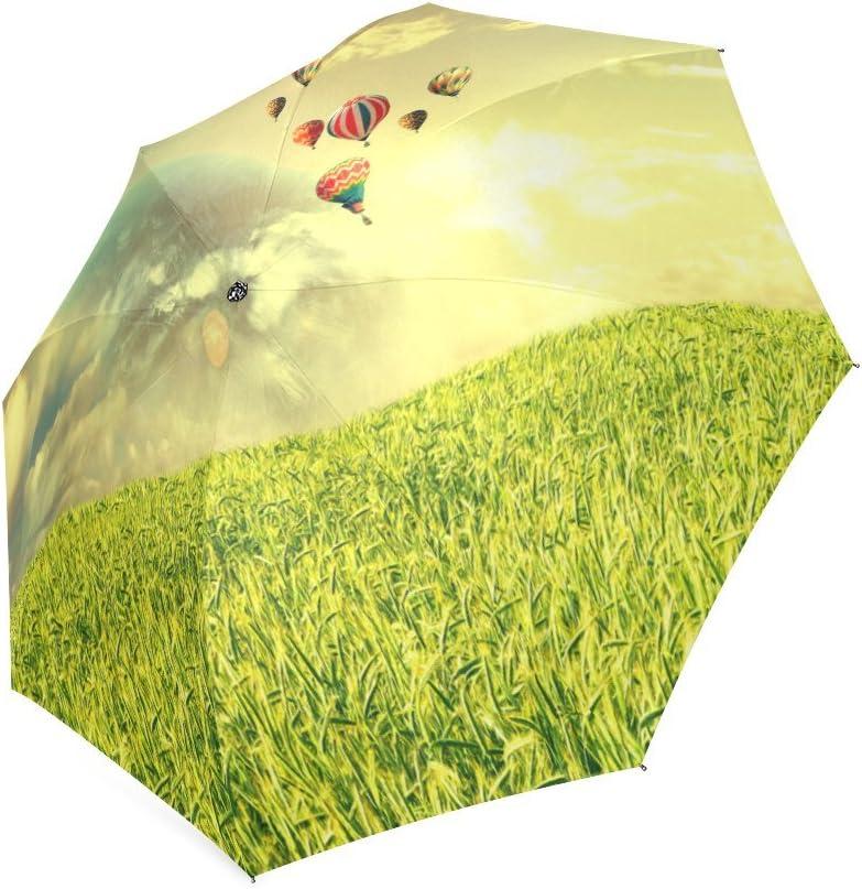 Custom Fantasy Hot air balloons Compact Travel Windproof Rainproof Foldable Umbrella