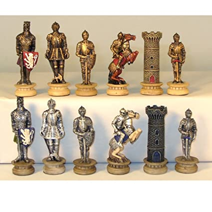 Wonderful Amazon.com: Medieval Times Armored Knights Painted Resin Chess  IG55