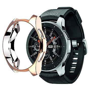 Wengerui Protector Funda para Galaxy Watch 46mm, TPU Suave ...