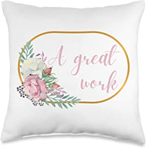 A Great Work 2021 LDS Youth A Work YW Mutual Young Women Men Theme Throw Pillow, 16x16, Multicolor