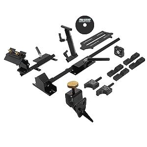 Pro Grind Sharpening System For Lathe Turning Tools, Chisels, Skews, Gouges, Bowl Gouges, Spindle Gouges and More. Includes the Multi-Grind Jig for Gouges, Slotted Platform and Tool Rest