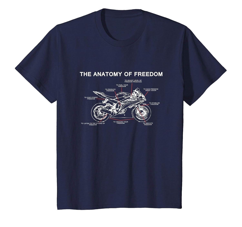 Amazon.com: MOTORCYCLE T-SHIRT The Anatomy of Freedom: Clothing
