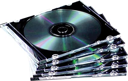 Fellowes 9833801 - Pack de 10 Cajas Estuche para CDs/DVDs, Transparente: Amazon.es: Informática