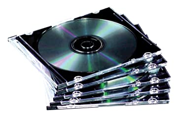Fellowes 9833801 - Pack de 10 cajas estuche para CDs/DVDs, transparente: Amazon.es: Informática