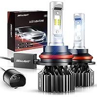 SEALIGHT 9007/HB5 LED Bulbs 14000LM Dual Bulbs X1 Series 6000K Xenon White Non… photo