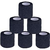 SAMZO 6 Rolls Houden Vingers Haak Grip Stretch Tape Handen Katoen Scheur Gewichtheffen Haak Grip Tape Duim