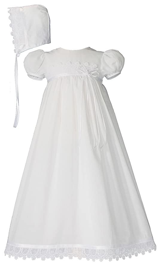 Victorian Kids Costumes & Shoes- Girls, Boys, Baby, Toddler Cotton Christening Gown with Italian Lace $79.99 AT vintagedancer.com