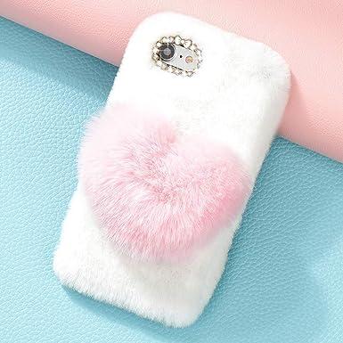2623915594 LAPOPNUT for iPhone 6 Case iPhone 6S Case Girls Luxury Faux Fur Case Cute  Soft Cover