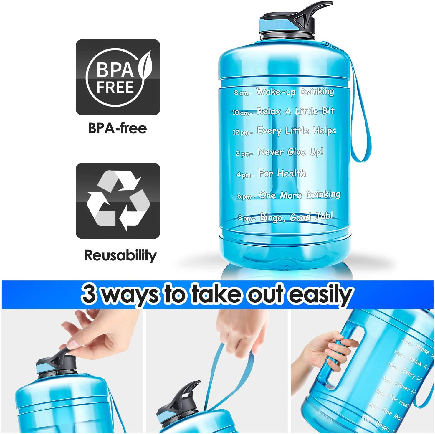 Firares Gallon Water Bottle