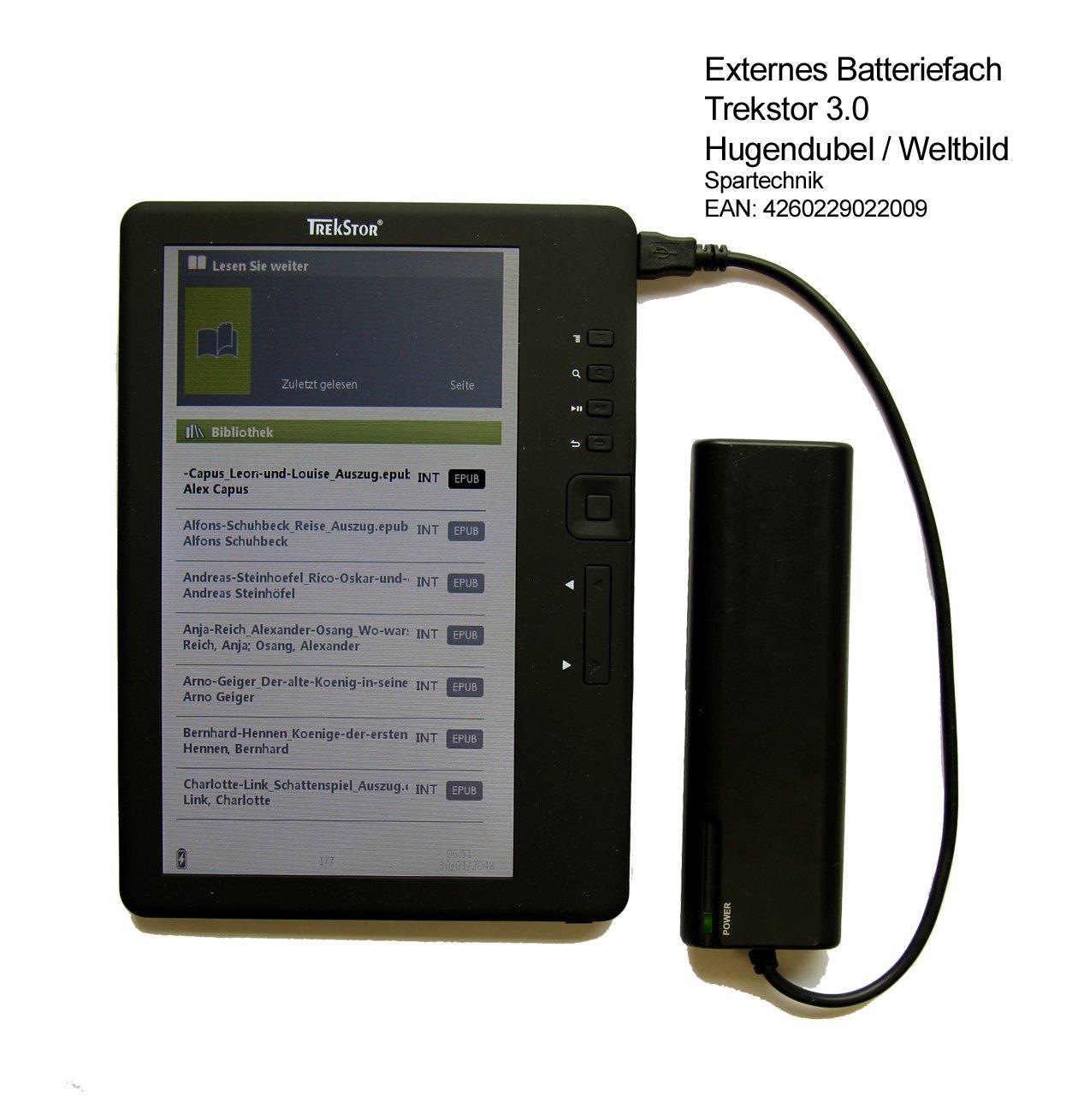 Spartechnik Cargador de batería portátil para Trekstor 3.0 ...