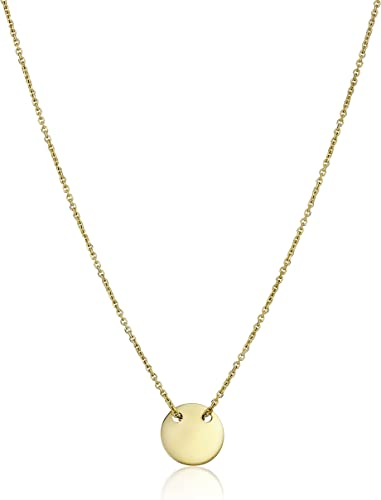 14K Yellow Gold 2.8-D Pendant on an Adjustable 14K Yellow Gold Chain Necklace
