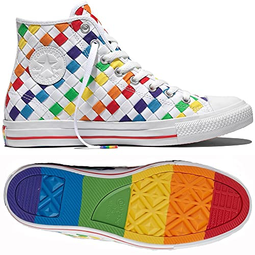 291aa2177360 Converse Chuck Taylor Hi All Star Hi Pride LGBT 153153C White Men s Shoes  ...