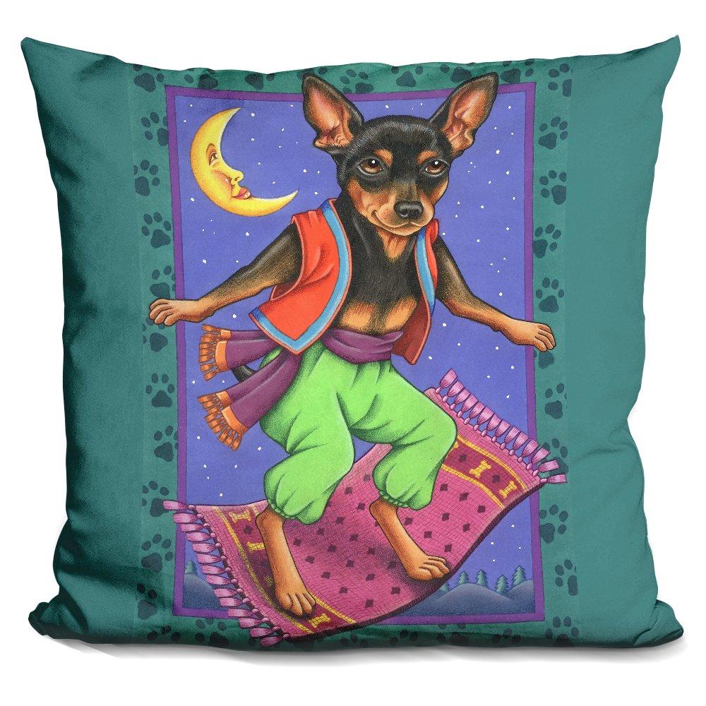 LiLiPi Minipin Flying Carpet Decorative Accent Throw Pillow