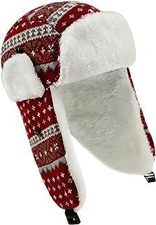 EveryHead Fiebig Jungenstrickmütze Strickmütze Fliegermütze Fellmütze Wintermütze Norwegermütze mit Teddyfutter für Kinder (FI-71284-W16-JU0) inkl Hutfibel