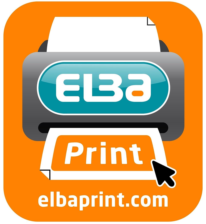 Elba Tiki Caja de 25 carpetas colgantes para caj/ón A4