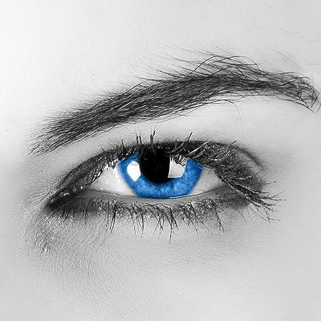 Colores Contacto lente sin grosor Aqua Azul Lentes Colores ...