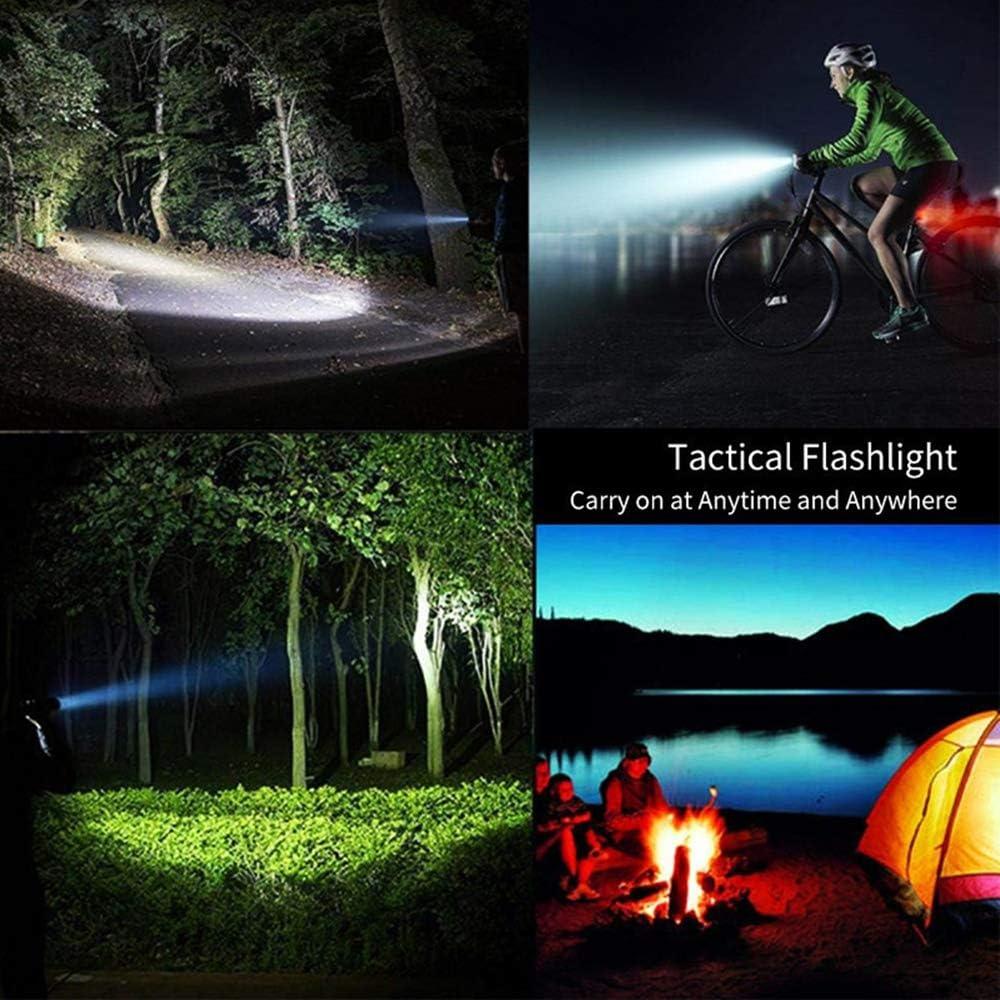 LUXJUMPER Lampe torche LED XHP100 rechargeable de 12000 lumens superpuissance lampe de poche tactique zoomable 5 modes Torches portatives Torche USB pour camping en plein air avec batterie