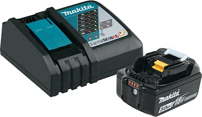 Makita BL1850BDC1LXT Lithium-Ion Battery and Charger Starter Pack, 18V