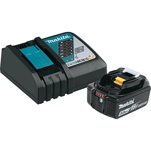 Makita BL1850BDC1  LXT Lithium-Ion Battery and Charger Starter Pack, 18V (Color: 18V, Tamaño: 5.0 Ah)
